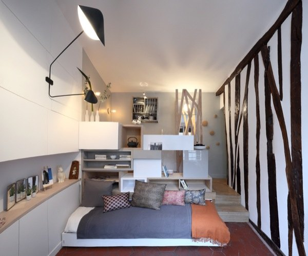 woman goes tiny in a 129 sq ft micro apartment