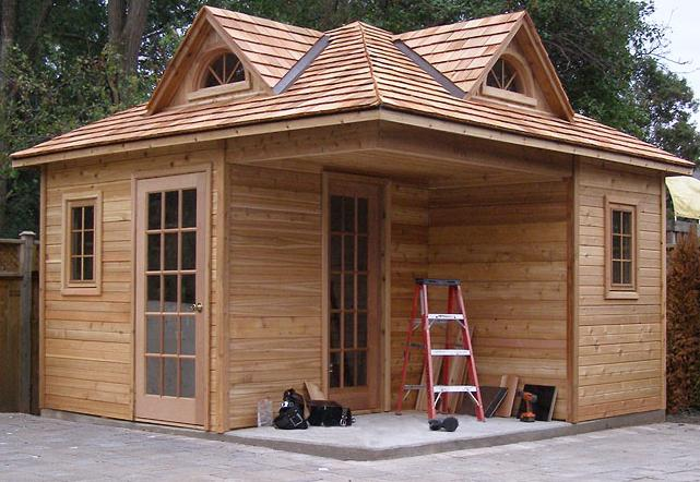 Tsle this is plans for a portable shed for Pool houses and cabanas