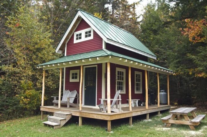 160 Sq Ft Tiny Loft Cabin With Wraparound Porch