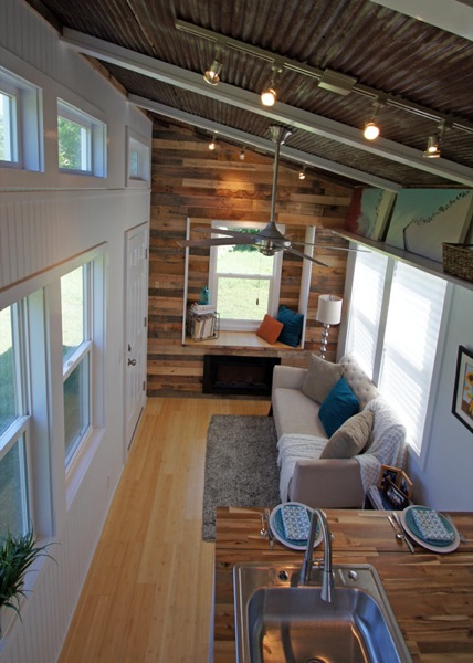 180 sq ft yosemite tiny house on wheels for Small house design inside and outside