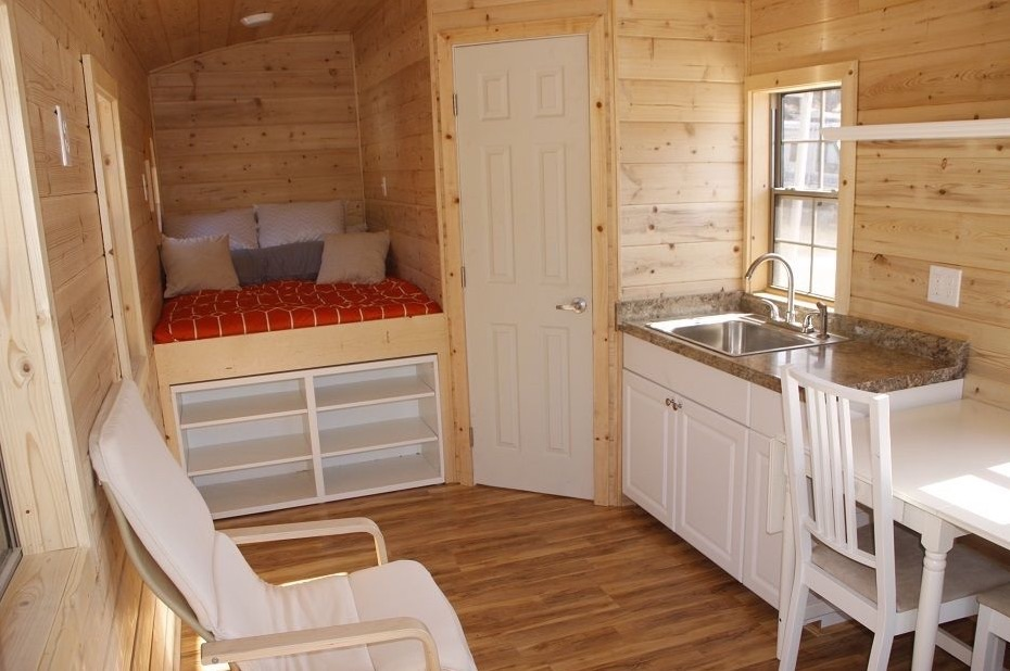 198 sq ft tiny house on wheels for sale for Tiny house floor plans for sale