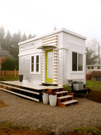Tiny Modern House On Wheels 200 sq. ft. modern tiny house on wheels for sale