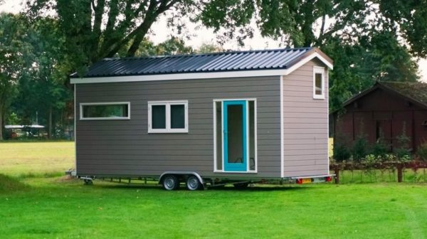 Tiny House On Wheels high school teacher with no building experience builds 206 sq. ft