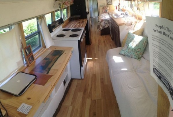 2k School Bus Converted Into Amazing Diy Motorhome