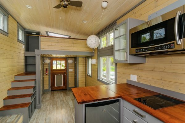 300 sq ft custom tiny home on wheels for 300 square foot cabin