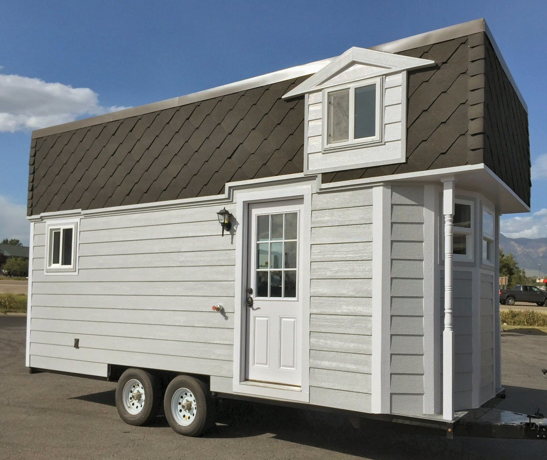 The victorian prepper tiny house on wheels for Victorian tiny house for sale