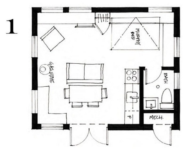400 sq ft small cottage by smallworks studios for 400 sq ft cabin plans