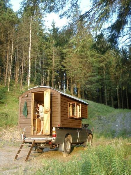 Handmade micro cabin built on a 4x4 diesel truck for sale for Cabin a camper for sale