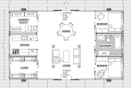 shipping container house floor plan - Sea Container Home Designs