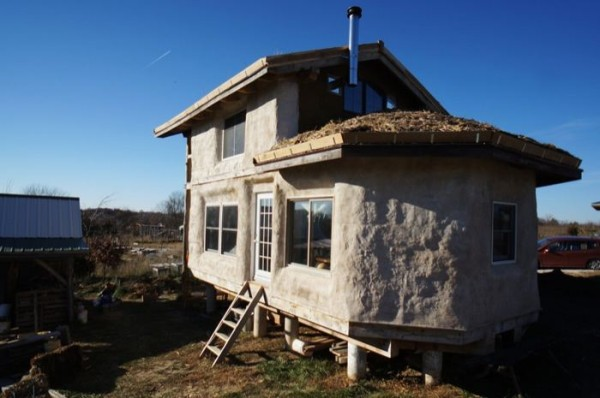 Tiny House Talk Timber Frame Straw Bale Tiny House For Sale