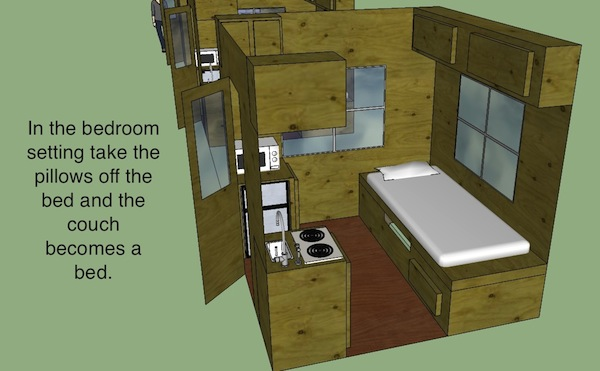 8x8 tiny house design by hunter for Bathroom designs 8x8