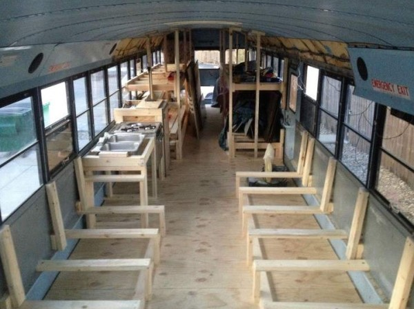 8 Students School Bus Conversion 0016