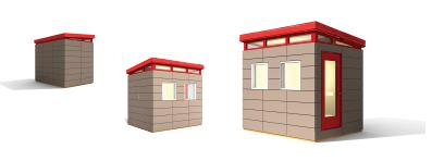 8 x 10 small house kits   Small House Kits by Modern Shed