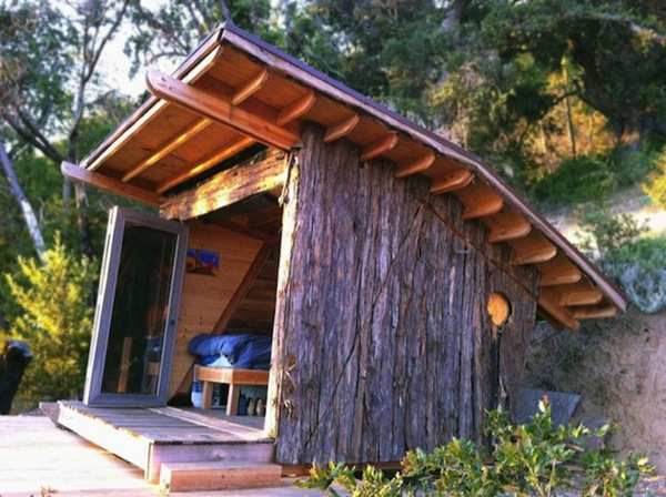 90 sq ft hawk house micro cabin in big sur 005   Micro Cabin at Big Sur: 90 Sq. Ft. Passive Solar Timber Cabin