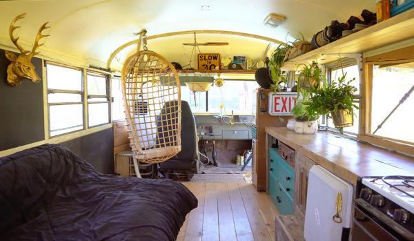 Aaron school bus tiny house conversion - Exploring Alternatives 2