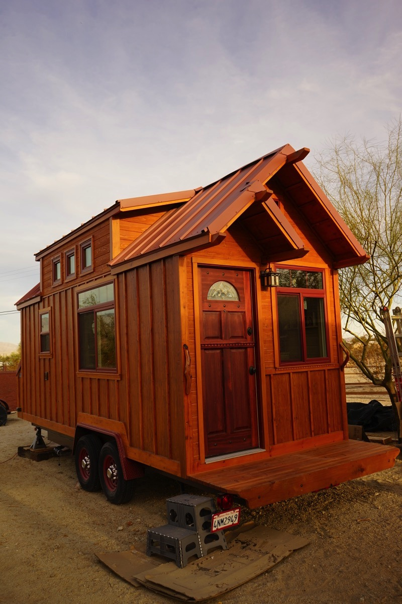 Man builds craftsman style tiny house for Mini house plans