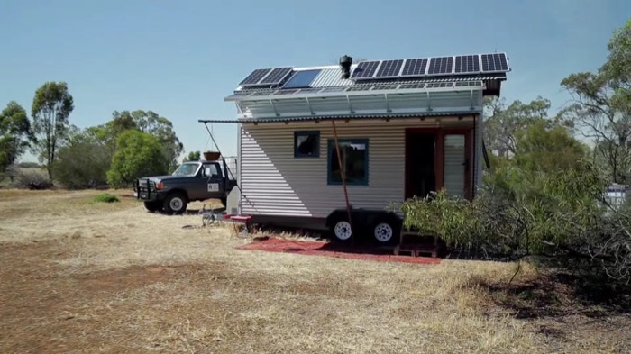 Tiny Home Designs: Man Designs And Builds Amazing Off-Grid Family Tiny Home