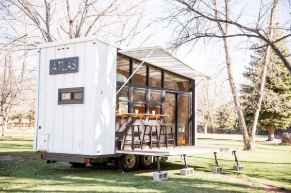 196 sq ft atlas tiny house on wheels - House On Wheels