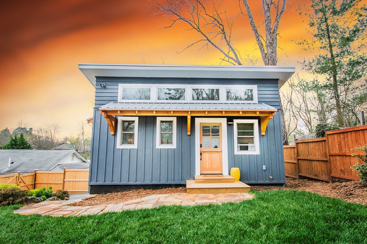 Blue adu nanostead tiny house near downtown asheville for Adu plans for sale