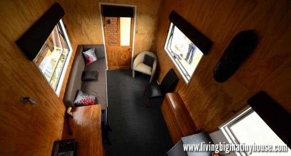 Bretts Tiny House Top View 1024x576   Artist Builds Amazing 161 Sq. Ft. Mortgage free Tiny House for $17,514