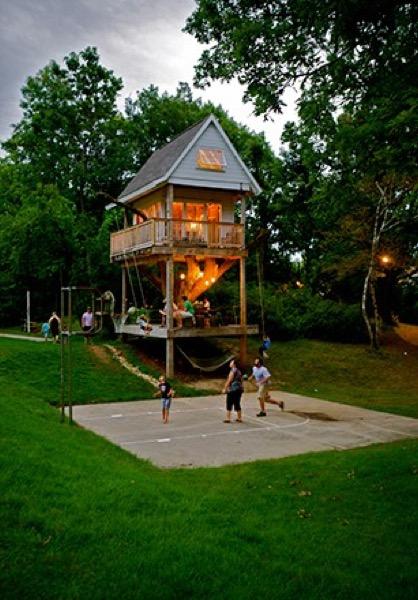Camp Wandawega S Three Level Treehouse