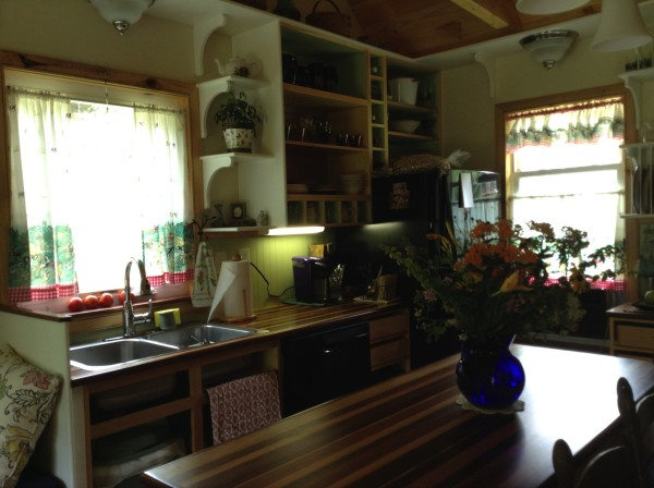 Couple Build 384 Sq. Ft. Tiny Country Cottage 04