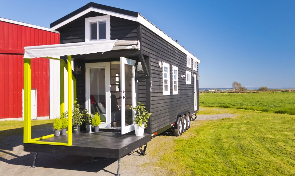 Mint Tiny House With Built In Patio