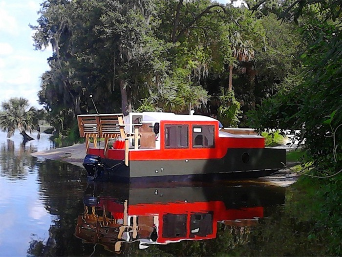 A Diy Shantyboat You Can Rent In Florida