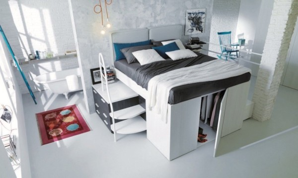 Dielle Space Saving Bed Walk In Closet 001