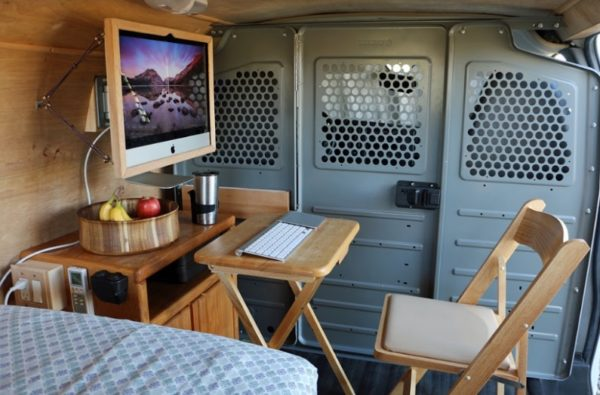 Digital Nomad's Cargo Van Conversion