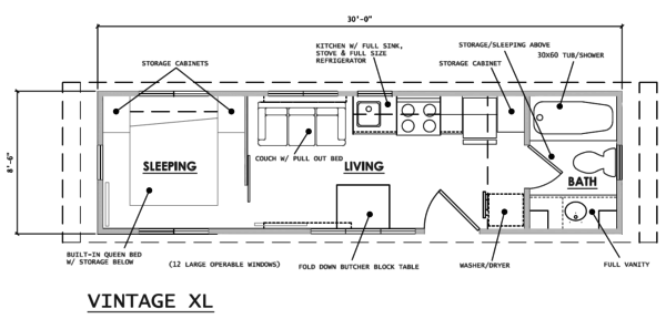 escape vintage xl tiny house on wheels 008 - Tiny House Plans On Wheels