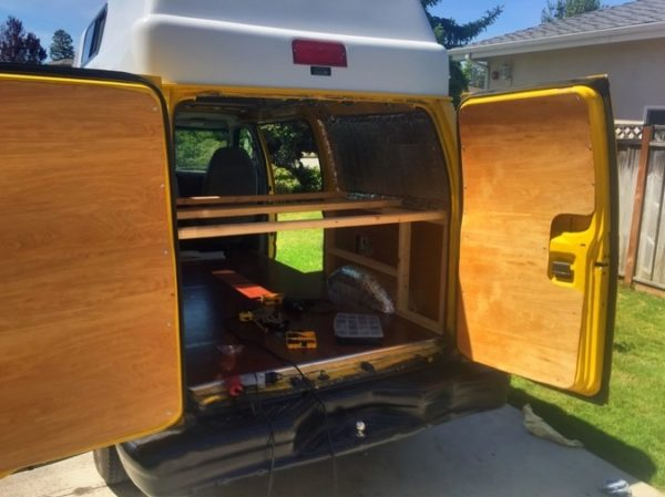 Evan's DIY Conversion Van Tiny Home 0027
