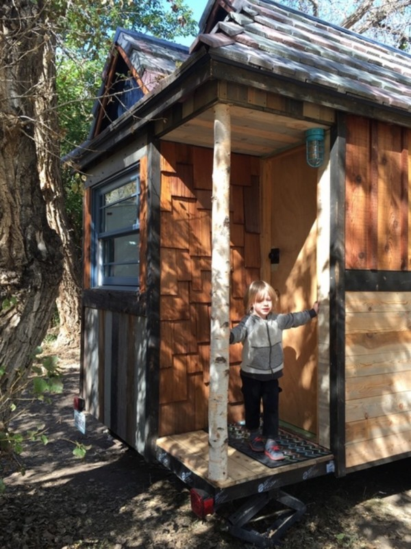 Family of Three's Adventure Tiny House on Wheels 0022