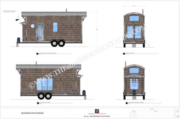 Tiny House On Wheels Plans 8x28 coastal cottage 1 Free Tiny House Plans The Bohemian Tiny House On Wheels