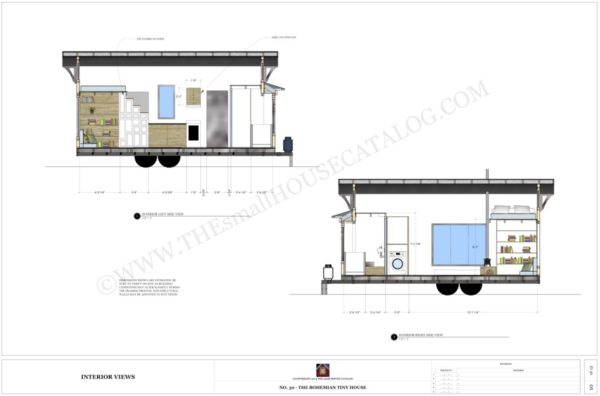 Tiny House On Wheels Plans tiny house on wheels floor plan with single loft Free Tiny House Plans The Bohemian Tiny House On Wheels