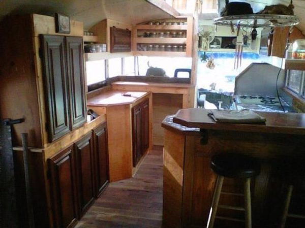 Green Cedar Bus Tiny Home 004