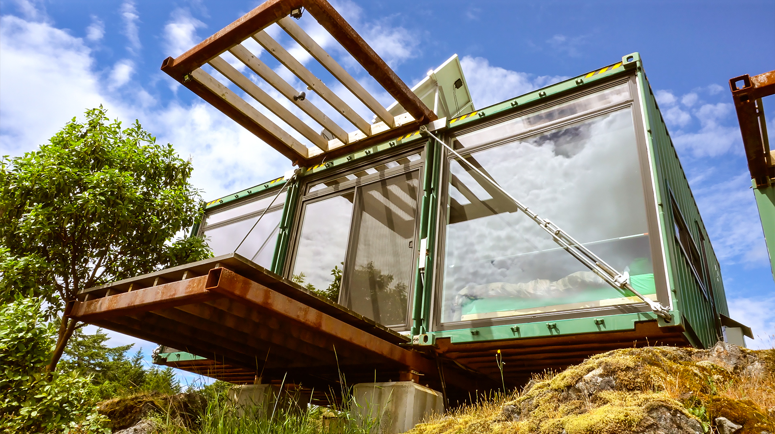 Stunning Off Grid Shipping Container Home On Mountain Top