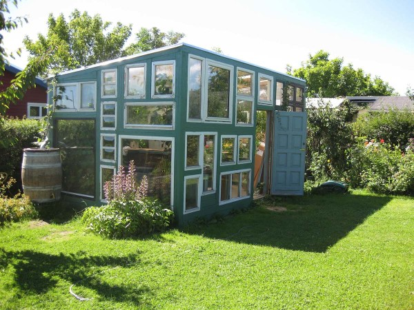 Tiny House Built with Recycled Windows