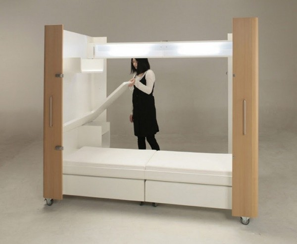 Mobile furniture box unfolds to kitchen bedroom or office Mobile home bedroom furniture