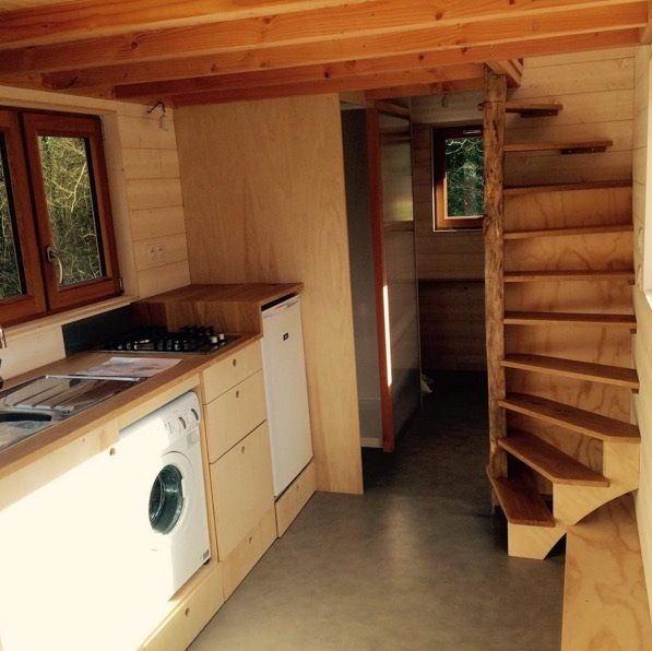 Tiny House With Loft an error occurred La Tiny House With Smart Staircase To Loft