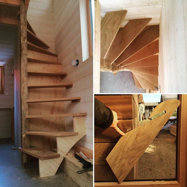 Tiny House Stairs tiny houses by darla La Tiny House With Smart Staircase To Loft