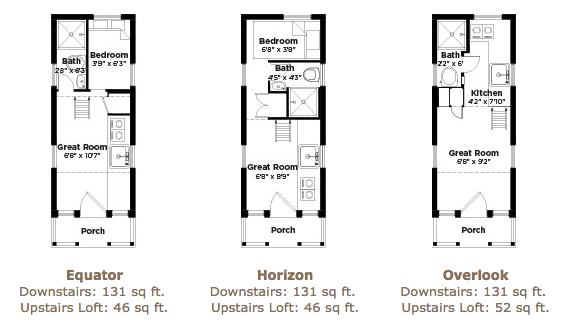 Tiny House Plans On Wheels 131 sq. ft. linden 20 horizon tiny home on wheelstumbleweed houses