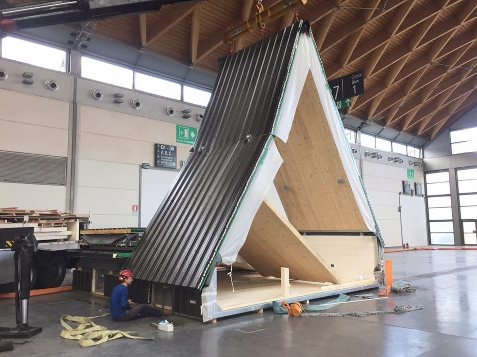Foldable Prefab A-frame Cabin By MADI In Italy