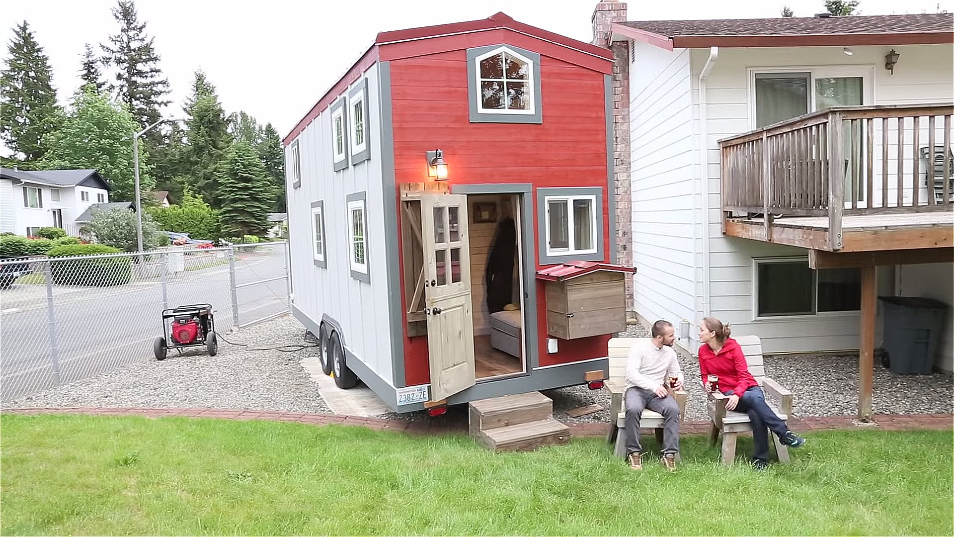 300 sq ft his 39 n hers tiny house 300 sq foot house