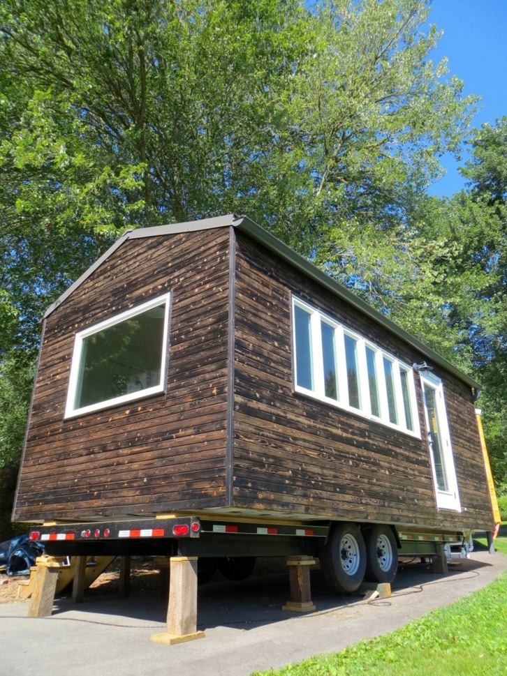 Minim tiny house on wheels built by brevard tiny house Tiny little houses on wheels