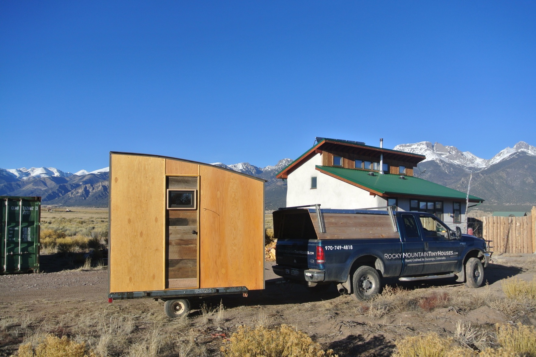 Tiny Home Designs: Mobile Micro Cabin And Office By Rocky Mountain Tiny Houses