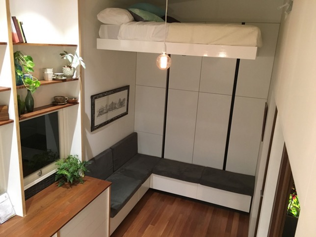 Modern Australian Tiny House On Wheels With A Bed Lift