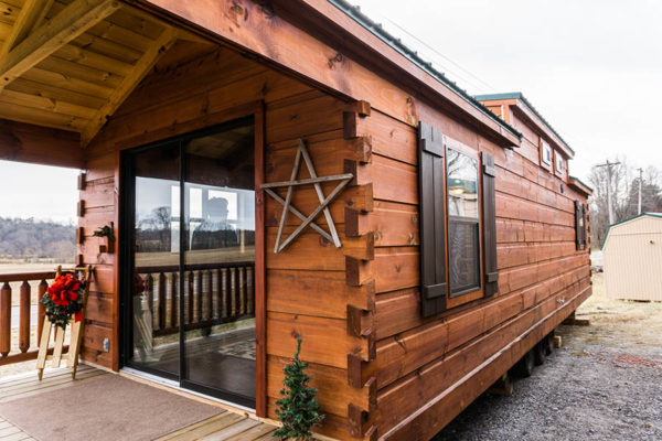 Log Cabin Park Model Tiny House By Muddy Creek Manufacturing