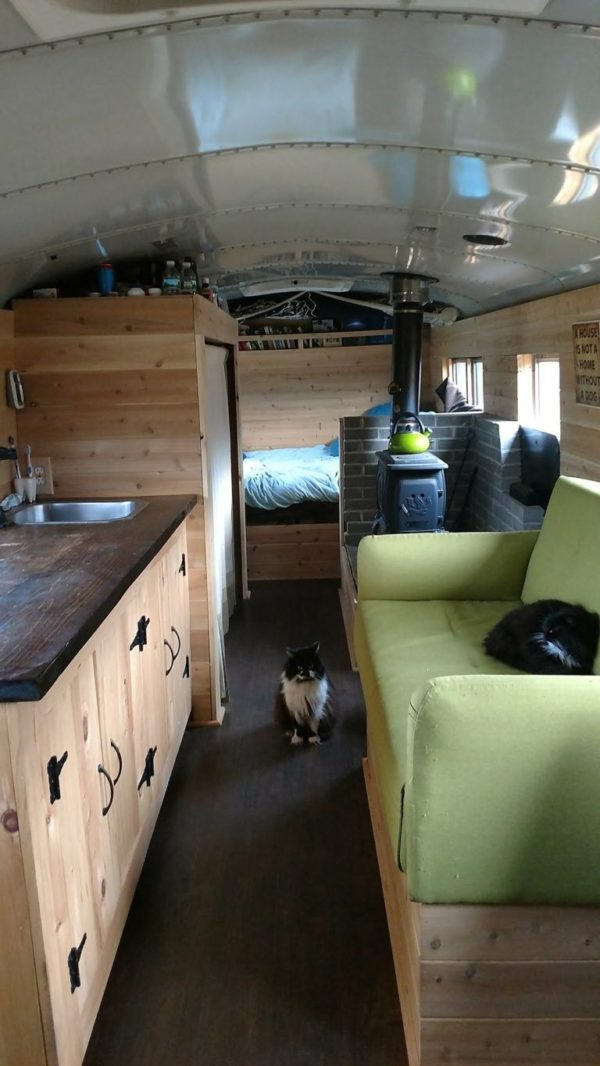 203 Sq Ft Off Grid New Hampshire Skoolie Cabin For Sale