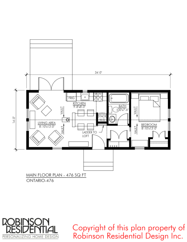 476 sq ft ontario tiny house plan